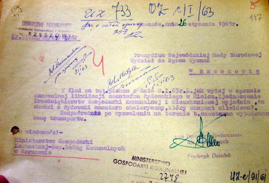 Letter dated January 26, 1963 from a government office in Rzeszów